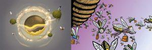 El cerebro minúsculo de las Abejas resuelve un problema matemático complejo. Las abejas utilizan mejor las rutas llegando mas rapido que un ser humano. Abejas recorren menos tiempo en llegar